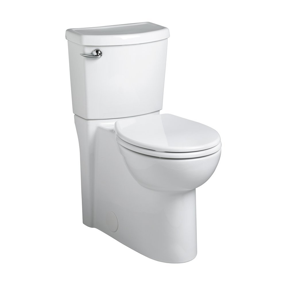 Best American Standard toilet 2988.101.020 Concealed Trapway Cadet 3 Right Height Round Front Flowise 1.28 gpf Toilet with Seat, White