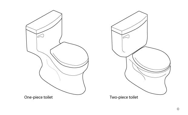 one-piece-vs-two-piece toilet