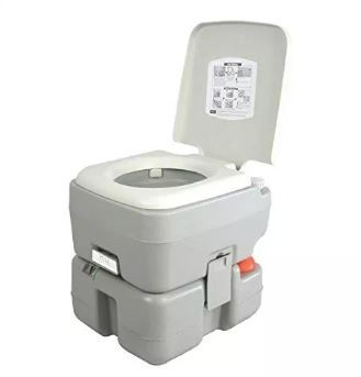 Camping Hiking Dual Spray Jets Travel Outdoor Portable Toilet, 5 gallon